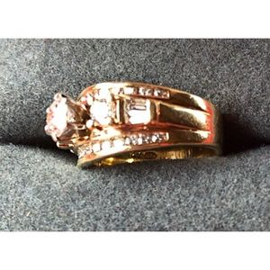 Jewelry - 14K Gold & Diamond Wedding Ring Appraised at $7600
